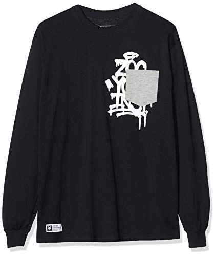 Zoo York Herren Drip Tag Long Sleeve Langarmshirt