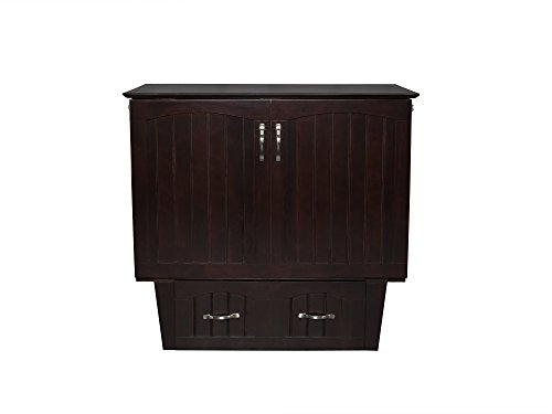 Atlantic Office Cabinet (Atlantic Furniture  Nantucket Charging Station & Coolsoft Mattress Murphy Bed Chest, Twin, Espresso)