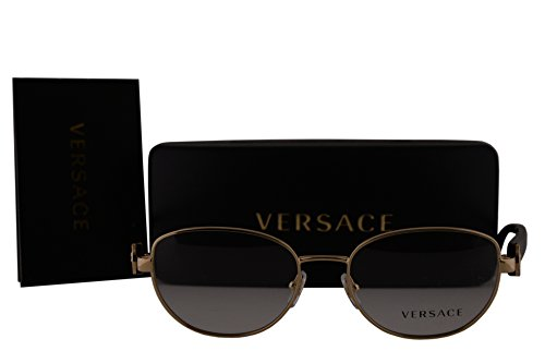 Versace VE1246B Eyeglasses 52-17-135 Pale w/Havana Temples w/Demo Clear Lens 1252 VE 1246-B
