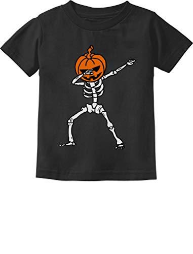(Jack O' Lantern Dabbing Pumpkin Halloween Dab Skeleton Toddler Kids T-Shirt 5/6)