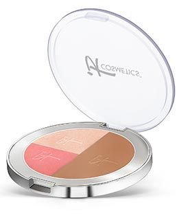 Live Love, Laugh Vitality Face Disc Matte Brownzer, Blush & Illuminator .54 oz by It Cosmetics