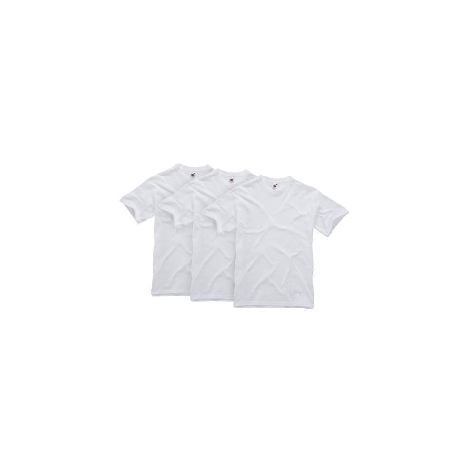 Fruit of the Loom Herren Shirt/ T Shirt 3 er Pack 110103 Bekleidung