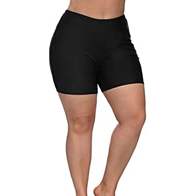 Sociala Women's Plus Size Swim Shorts High Waisted Swimwear Bottoms Boardshorts: Clothing
