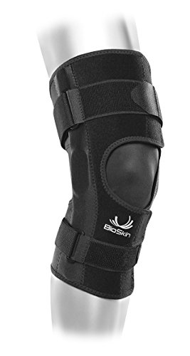 Front Closure Lightweight Hinged Knee Brace - Relieve Pain and Support ACL, MCL, Meniscus Strains and Tears - CrossFire By BioSkin (Brace Front Closure)