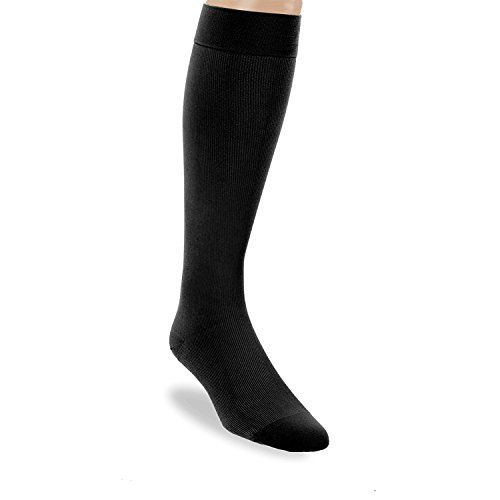 BSN Medical 115090 Jobst for Men Compression Hose, Knee High, 20-30 mmHG, Closed Toe, Large, Black