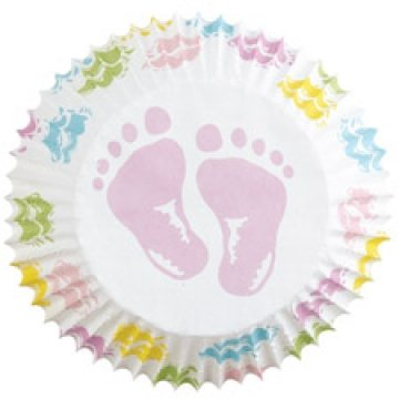 Baby Feet Cupcake Liners (75 Count)]()