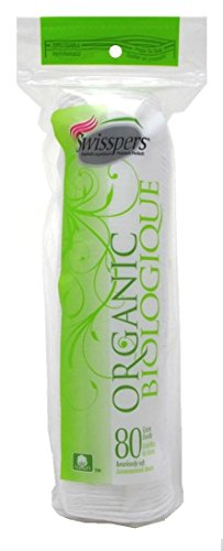 Organic Essentials Organic Cotton Rounds (Swisspers Cotton Organic Rounds 80 Count (6 Pack))