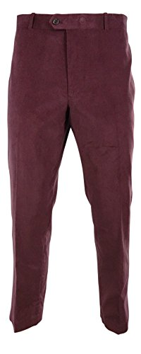 Bar III Men's Dress Pants Carnaby Collection Corduroy Slim Fit (32Wx32L, Wine) by Bar III