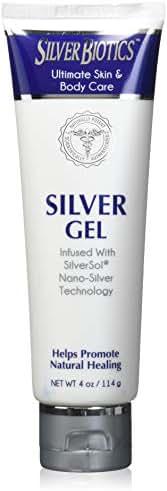 American Biotech Labs Silver Biotics Silver Gel Infused w/SilverSol Nano-Silver Technology 4oz