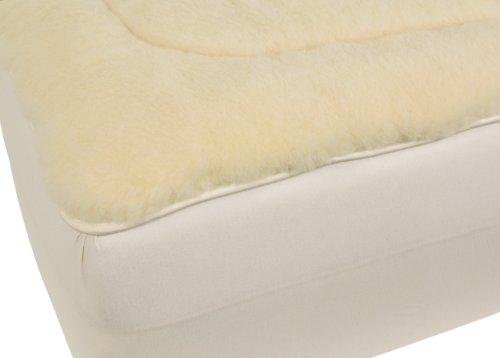 Wool Mattress Pad (Cal Ripken Deluxe All-Natural 350 GSM Australian Merino Wool Reversible Mattress Pad by Herington, Natural, Queen)