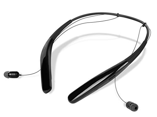 EXFIT BCS-100 Wireless Bluetooth Headphones, Waterproof and Sweatproof, Siri and Google Assistant Compatible, 14 Hour Battery (Black)