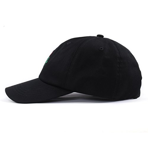 Aung Crown Rose Embroidered Dad Hat Women Men Cute