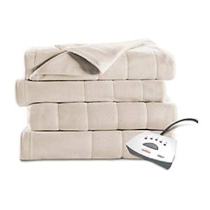 Sunbeam Electric Heated Fleece Blanket (Full, Seashell) by Sunbeam