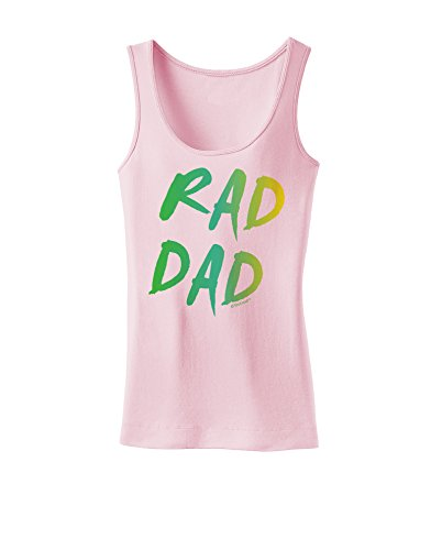 TooLoud Rad Dad Design - 80s Neon Womens Tank Top - Soft Pink - 2XL (80s Outfits For Sale)