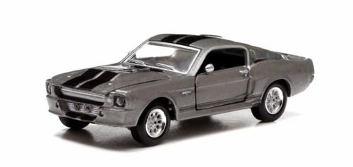 New 1:64 GREENLIGHT COLLECTION HOLLYWOOD SERIES - GONE IN 60 SECONDS - GREY 1967 FORD MUSTANG - ELEANOR Diecast Model Car By Greenlight