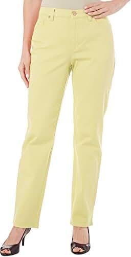 Gloria Vanderbilt Women's Petite Amanda Straight Leg Twill Pant
