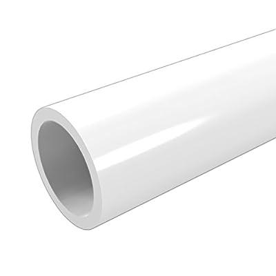"FORMUFIT P112FGP-WH-5 Schedule 40 PVC Pipe, Furniture Grade, 5', 1-1/2"" Size, White"