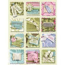 Amy Butler Grand Adhesions Embellishments - Sola Stitched Words