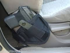 Car Truck Vehicle Seat Holster Fits Medium to Large Frame Hand Gun Glock 17-23/Taurus/.45/9MM/1911 (Parts Gun Taurus)