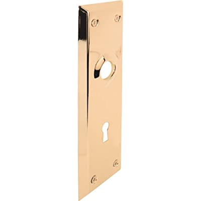 Prime-Line Products E 2295 Vintage Door Escutcheon Trim Plates, 2-7/32 in. x 7 in., Brass Plated Steel