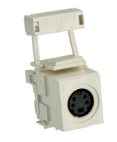Leviton 40734-SVT QuickPort 110-Type To Female S-Video, Light Almond (S-video Bulkhead)
