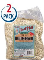 Bob's Red Mill Organic Extra Thick Rolled Oats -- 2 lbs Each / Pack of 2