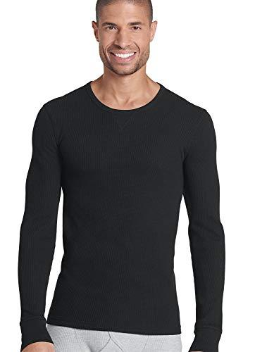 Jockey Men's T-Shirts Tall Man Long Sleeve Waffle Crew, Black, - Jockey Thermal