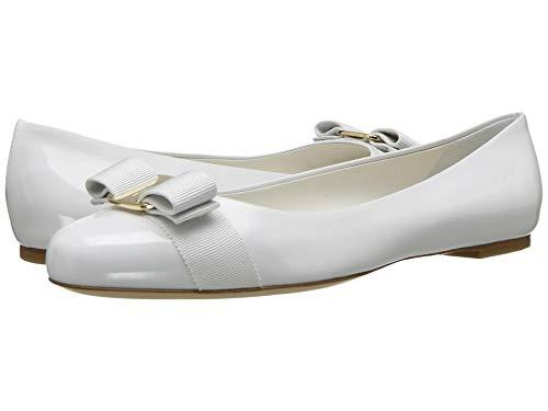 SALVATORE FERRAGAMO Women's Varina New Bianco Ottico Patent 6 B US B