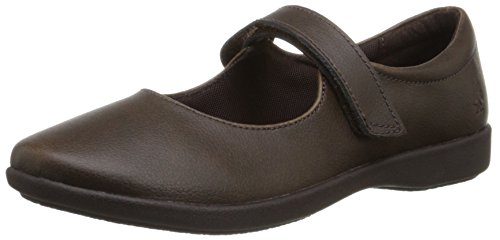 Hush Puppies Lexi Uniform Mary Jane (Toddler/Little Kid/Big Kid), Brown, 6 M US Big Kid