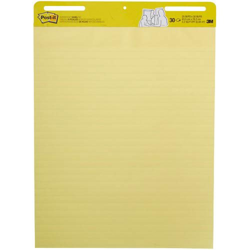 Post-it® Super Sticky Self-Stick Easel Pads PAD,POST-IT,EASEL,LNED,YW C1800-010 (Pack of 2)