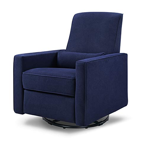 DaVinci Piper All-Purpose Upholstered Recliner and Swivel Glider, Navy ()