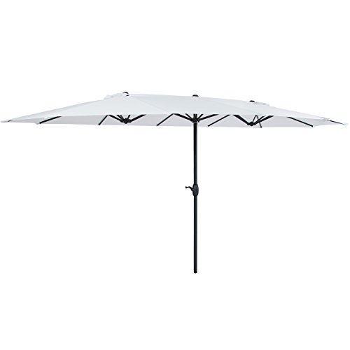 Best Choice Products 15' Outdoor Umbrella Double-Sided Aluminum Market Patio Umbrella with -