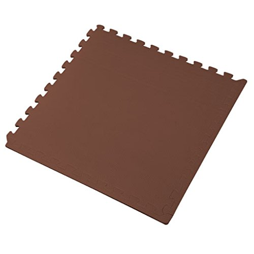 We Sell Mats Foam Interlocking Anti-Fatigue Exercise Gym Floor Square Trade Show Tiles (Brown, 16 SQ FT (4 Tiles + Borders)) by We Sell Mats (Image #3)