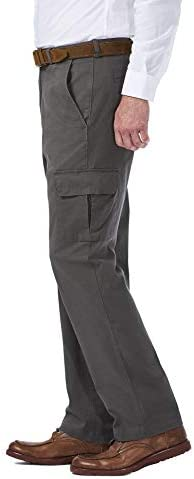 Haggar Men's Stretch Comfort Cargo Expandable-Waist Classic-Fit Pant