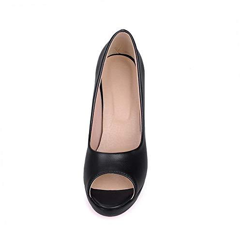 EYR00228 Femme Bout Aimint Noir Noir Ouvert 36 5 BdqFa