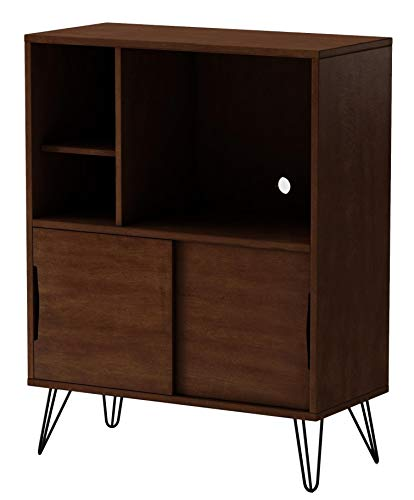 Birch Media Storage Cabinet - Storage Cabinet and Bookcases | Retro Clifford Media Bookshelf Console