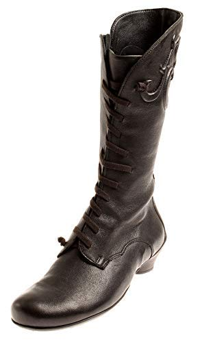 Winter For 00 Women Warm Black Leather Fancy Boots 81191 Think Shoes BqFX0