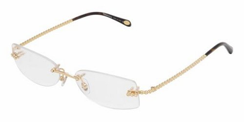 170883a1ab Image Unavailable. Image not available for. Colour  Tiffany   Co. Women s  1017b Gold Frame Rimless Eyeglasses ...