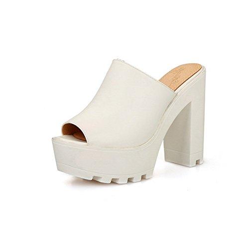 Adee vestir mujer de Sandalias blanco para RRxaOTg1qw