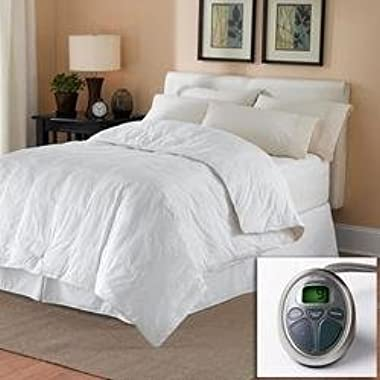 Sunbeam All Season Premium Queen Heated Mattress Pad with Two Heating Digital Controllers - 250 Thread Count 100% Cotton