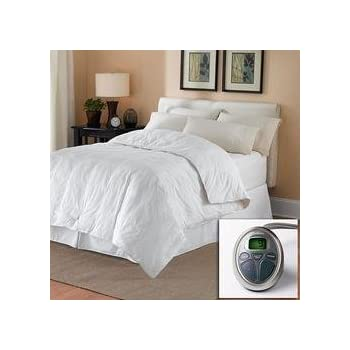 finish zones white w item mattress pad sunbeam heated controller queen s wireless p