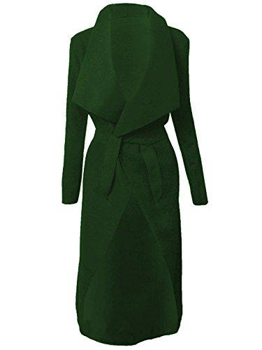 Italien cascade Kim KARDASHIAN CELEBRITY Jewellery Manteau Veste longue ceinture, Cape Cardigan femme vert fonc
