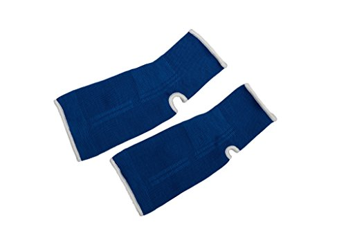 Ankle Guard Support in Muay Thai, Boxing, Kickboxing, MMA (Blue, L)