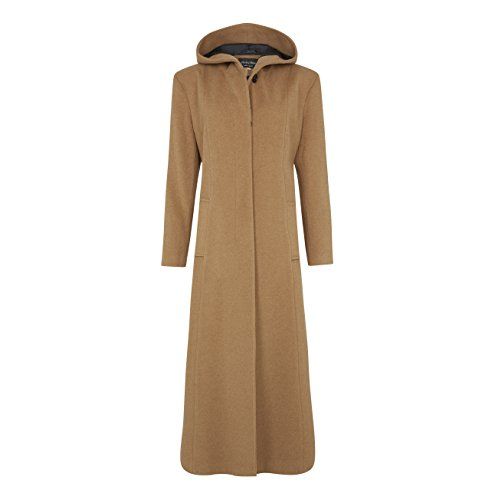 De La Creme - Camel Single Breasted Detachable Fur Hood Wool Winter Trench Winter Coat Size UK 20 EUR 48 USA 16