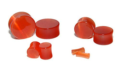 Intrepid Jewelry Blood Orange Cats Eye Plugs Double Flared (1/2