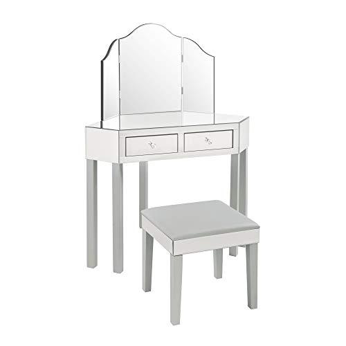 Buy makeup vanity table grey