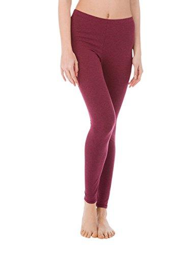 Calida Comfort Damen Leggings, Parte Inferior del Pijama para Mujer Rot (Burgundy Melé 217)