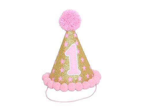 Girls 1st Birthday Twinkle Little Star Party Hat