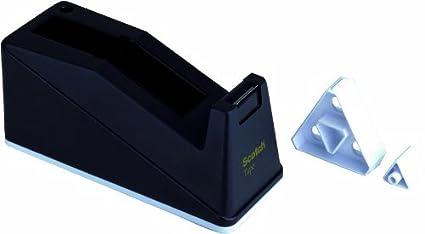 3M Scotch Dispenser Ricaricabile per Nastro Adesivo da 19 mm x 33 m Porta Scotch per Ufficio Nero