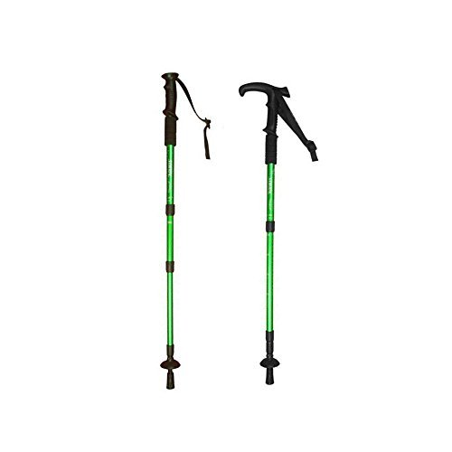 Hillman Pair Trekking Poles, Hiking/Walking Sticks, Durable, Lightweight, Folding, Collapsible/Telescoping, with EVA Foam Handle.Perfect for Hiking, Walking, Backpacking and Snowshoeing (Green) - Perfect Pole Telescoping Handle
